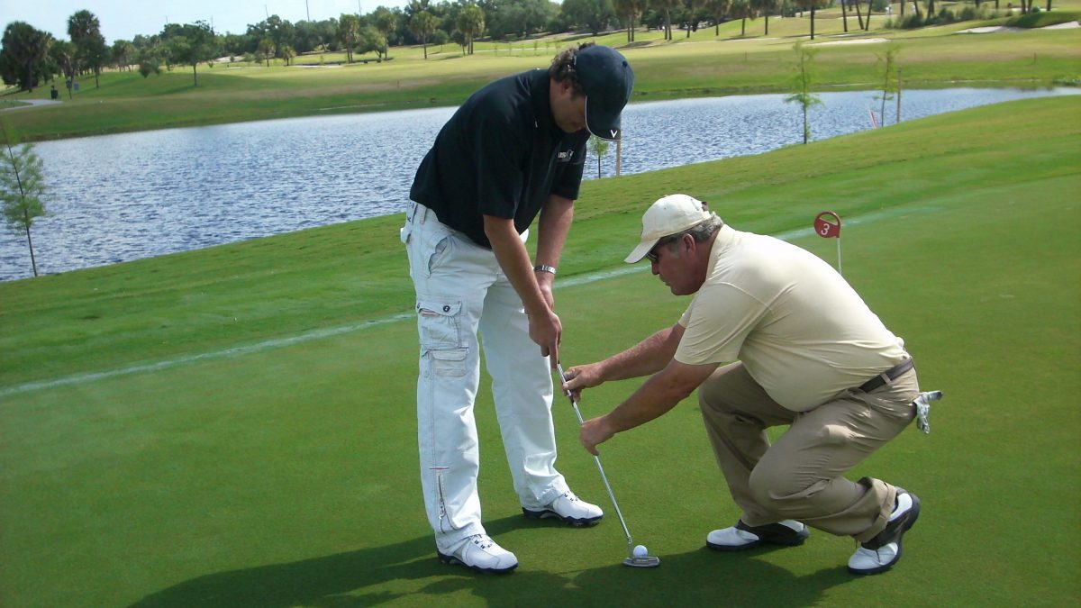1-2-3 Putter Setup Golf Lesson Teaches Putting Speed Control