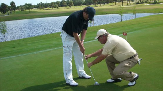 1-2-3 Putter Setup Golf Lesson Teaches Putting Speed Control